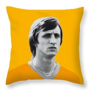 My Cruijff Soccer Legend Poster Throw Pillow