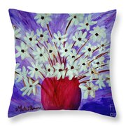 My Daisies Blue Version Throw Pillow