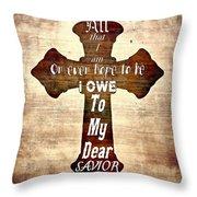 My Dear Savior Throw Pillow by Michelle Greene Wheeler