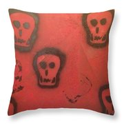 Devil At Large Throw Pillow