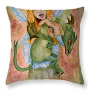 My Dragon Throw Pillow
