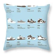 My Evolution Sneaker Minimal Poster Throw Pillow