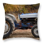 My Faithful Tractor Throw Pillow