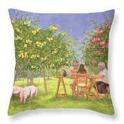 My Family And Other Animals Throw Pillow