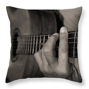 My Father's Hands By Diana Sainz Throw Pillow