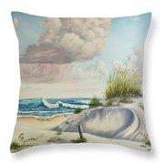 My Favorite Beach II Throw Pillow