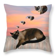 My Favorite Dream - Mouse Hunt Throw Pillow