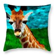 My Favorite Giraffe Throw Pillow