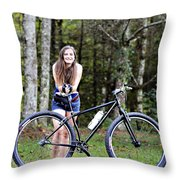 My Favorite Ride Throw Pillow