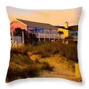 My Feet In The Sand At Isle Of Palms Throw Pillow