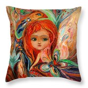 My Fiery Fairy Gwendolyn Throw Pillow