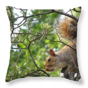 My First American Squirrel Throw Pillow