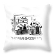 My Friends, After Our Many Happy Years Together Throw Pillow