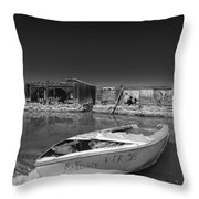 My Front Yard Black And White Throw Pillow