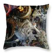 My Gears Will Grind  Throw Pillow