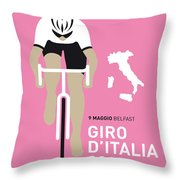 My Giro D Italia Minimal Poster 2014 Throw Pillow