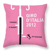 My Giro D' Italia Minimal Poster Throw Pillow