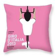 My Giro D'italia Minimal Poster Throw Pillow
