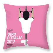 My Giro D'italia Minimal Poster Throw Pillow by Chungkong Art