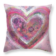 My Glittering Heart Throw Pillow