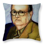 My Grandfather At A Younger Age Throw Pillow