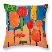 My Happy Trees 2 Throw Pillow
