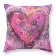 My Heart Of Circles Throw Pillow
