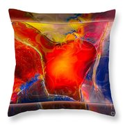 My Heart On My Sleeve An Abstract Painting Throw Pillow