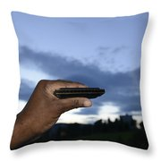 My Afro Blues Harmonica - Blue Hour Blues Throw Pillow