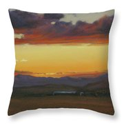 My Home's In Montana Throw Pillow