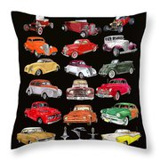 Hot Rod Ford Poster Throw Pillow