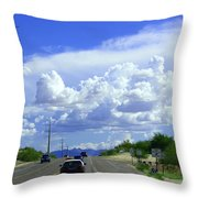 My House Over The Hill Under The Clouds Throw Pillow