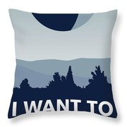 My I Want To Believe Minimal Poster-deathstar Throw Pillow