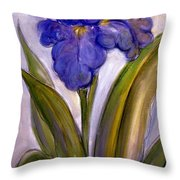 My Iris Throw Pillow
