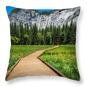 My Kind Of Trail Throw Pillow