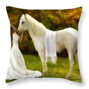 My King Is Coming Throw Pillow