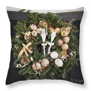 My Lady And His Lordship Wreath Throw Pillow