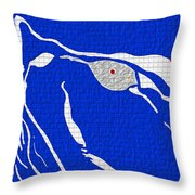 My Lady In Blue Throw Pillow