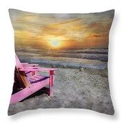 My Life As A Beach Chair Throw Pillow