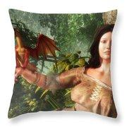 My Little Dragon - Detail Throw Pillow