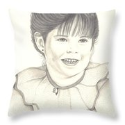My Little Girl Throw Pillow