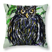 My Little Owl Throw Pillow