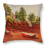 My Little Red Dory Throw Pillow
