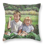 My Little Sister Throw Pillow