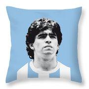 My Maradona Soccer Legend Poster Throw Pillow