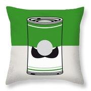 My Mario Warhols Minimal Can Poster-luigi Throw Pillow