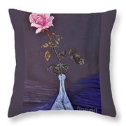 My Mothers Rose Throw Pillow