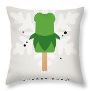 My Muppet Ice Pop - Kermit Throw Pillow by Chungkong Art