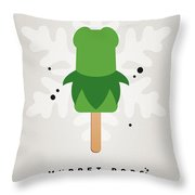 My Muppet Ice Pop - Kermit Throw Pillow