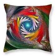 My My Beautiful Laundrette-fractal Art Throw Pillow by Karin Kuhlmann